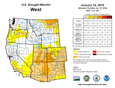 West Drought Monitor January 16, 2018.
