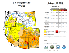 West Drought Monitor February 13, 2018.