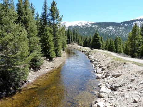 Transmountain diversion, the Lost Man Canal, in the Roaring Fork River watershed