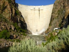 Morrow Point Dam, on the Gunnison River. Photo: Brent Gardner-Smith/Aspen Journalism