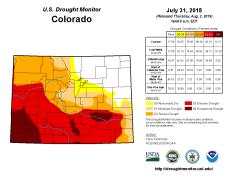 Colorado Drought Monitor July 31. 2018
