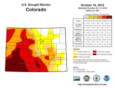 Colorado Drought Monitor October 16 2018.