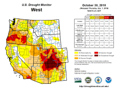 West Drought Monitor October 30, 3018.