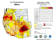 West Drought Monitor December 4, 2018