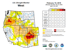West Drought Monitor February 19, 2019.
