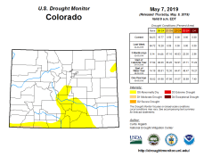 Colorado Drought Monitor May 7, 2019.