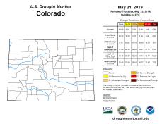 Colorado Drought Monitor May 21, 2019.