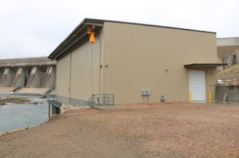 The exterior of the James W. Broderick Hydroelectric Power Facility at Pueblo Dam, which began producing electricity this week. Photo credit: Southeastern Colorado Water Conservancy District