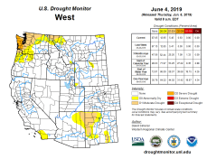 West Drought Monitor June 4, 2019.