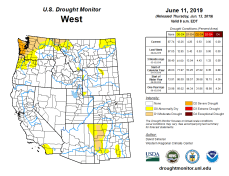 West Drought Monitor June 11, 2019.
