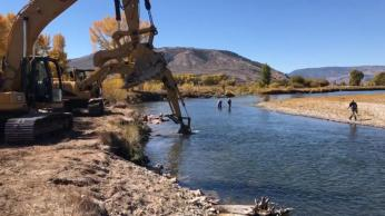 Stream improvements on the Upper Colorado River have been going on for five years, the result of a collaborative effort by ranchers and others near Kremmling, Colorado, and Trout Unlimited. (Source Paul Bruchez)
