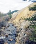 The Akron Mine cleanup near the headwaters of Tomichi Creek moved 8 acres of mine waste before restoration. Photo credit: Trout Unlimited