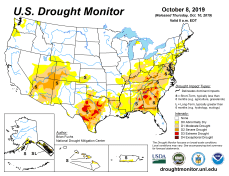 US Drought Monitor October 8, 2019.