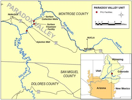 Paradox Valley Location Map. Credit: Bureau of Reclamation