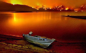 Vallecito Reservoir during Missionary Ridge Fire via George Weber Environmental.