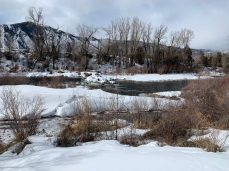The Robinson Diversion, located just upstream from the boat ramp on Willits Lane has long presented a hazard for boaters on the Roaring Fork River. Pitkin County Healthy Rivers has secured roughly $256,000 in grant money to permanently fix the area. Photo credit: Heather Sackett/Aspen Journalism