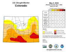 Colorado Drought Monitor May 5, 2020.