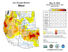 West Drought Monitor May 19, 2020.