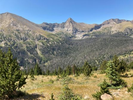The view from Music Pass in the Sand Creek drainage, where a multi-agency effort is unfolding to restore the Rio Grande cutthroat trout. (Provided by Colorado Parks and Wildlife)