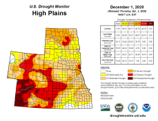 High Plains Drought Monitor December 1, 2020.