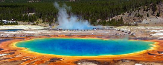 Grand Prismatic Spring Yellowstone National Park. Photo credit: Pixabay via NOAA