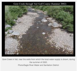 Gore Creek through Vail golf course summer 2002