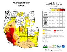 West Drought Monitor April 26, 2016.
