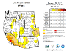 West Drought Monitor January 24, 2017.