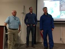 L to R, Frank McCormick (USFS), Karl Wetlaufer (NRCS), Edward Kim (NASA).