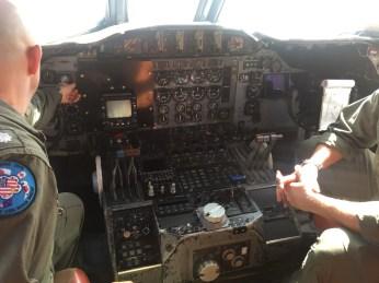 Cockpit SnowEx aircraft February 17, 2017.