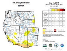 West Drought Monitor May 16, 2017.