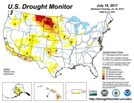 US Drought Monitor July 18 2017.