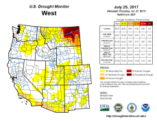 West Drought Monitor July 25, 2017.