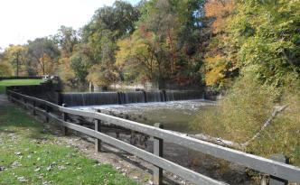 Dam and Waterfall - Mill Stream Run Reservation, Cleveland, Ohio Metroparks October 2012