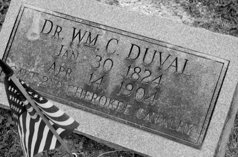 Dr. Duval's Grave in Pineville, MO