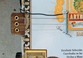 Cigar Box Guitar Bridge and Tailpiece