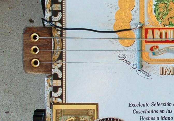 Cigar Box Guitar Bridge and Tailpiece