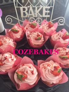 strawberry cupcakes, gluten free, gluten free cupcakes, wheat free cupcakes, pink frosting, cozebakes