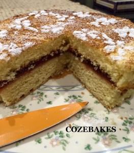 egg yolk sponge, sponge cake, baking with egg yolks, cozebakes, egg yolk sponge cake