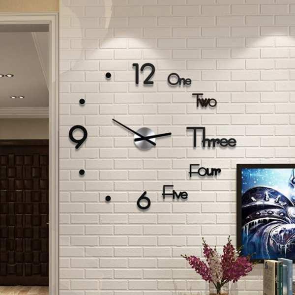 New Digital Watch Wall Clocks 3d DIY Clock Acrylic Digital Home Wall Clocks Decoration Stereoscopic Silent
