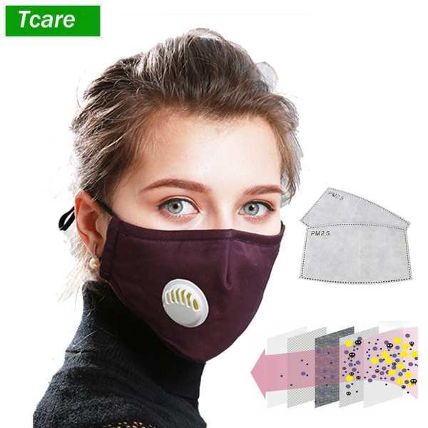 Tcare Anti Pollution N95 Mouth Mask Dust Respirator Washable Reusable Masks Cotton Unisex Mouth Muffle for