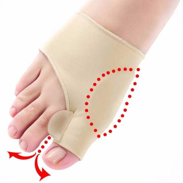 1pair Comfortable Soft Bunion Protector Toe Straightener Silicone Toe Separator Corrector Thumb hallux valgus Foot Brace