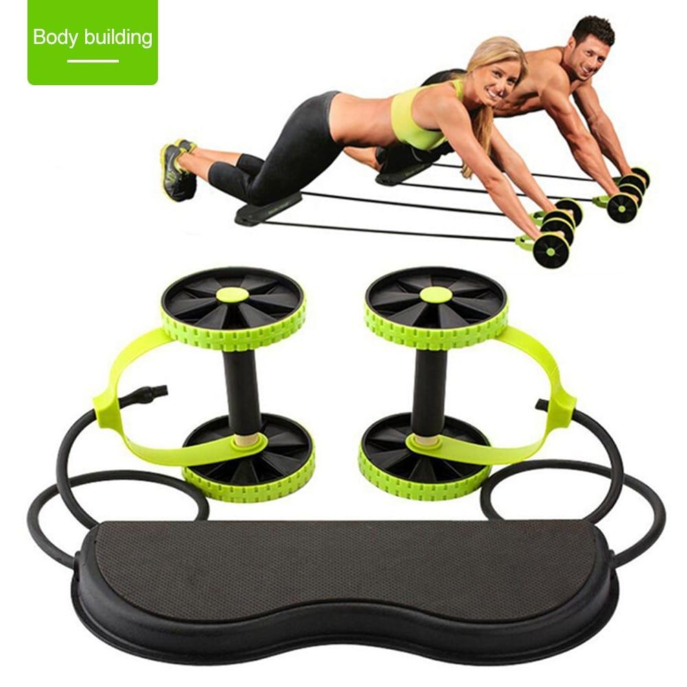 Power Roll Ab Trainer Abdominal Full Body Workout Gym Fitness Arm Waist Leg NEW