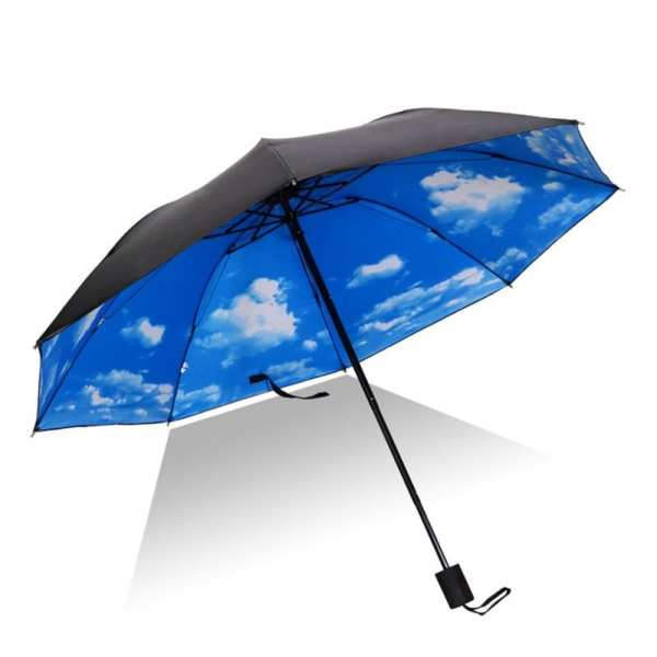 Sunny And Rainy Umberlla Inverted Reverse Sun Rain Car Umbrella Large Windproof Travel UV Umbrella Women