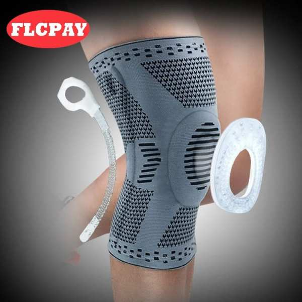 1 pcs Knee Patella Protector Brace Silicone Spring Knee Pad Basketball Running Compression Knee Sleeve Support