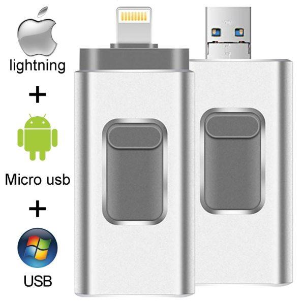 Dropshipping USB Flash Drive For iPhone X 8 7 7 Plus 6 6s 5 ipad 16GB