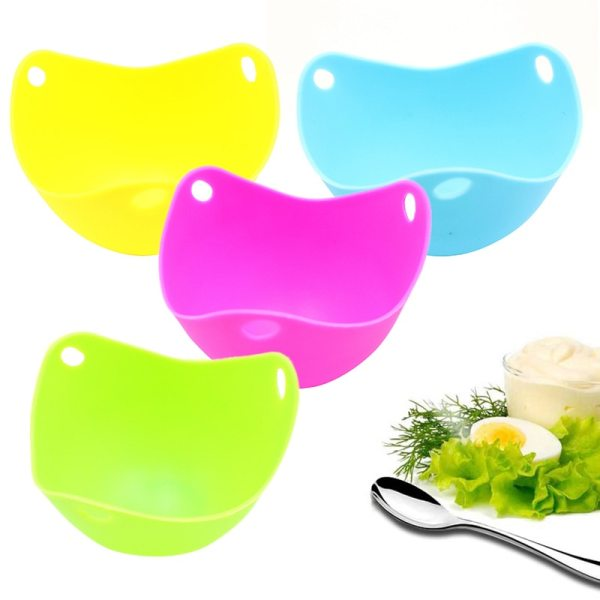 1Pcs Round Silicone Egg Poacher Poaching Pods Bowl Rings Cooker Kitchen Boiler Cuit Oeuf Dur Cooking
