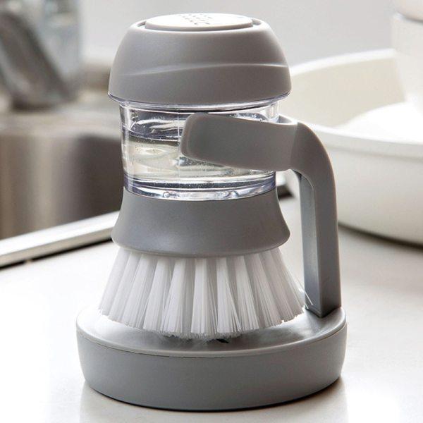 2019 New Household Kitchen Washing Utensils Pot Dish Brush with Liquid Washing Soap Dispenser Pot Brush
