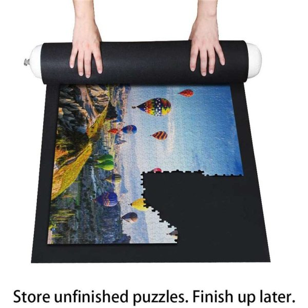 66 118cm Puzzles Mat Large For Up to 1500 Pieces Puzzle Folding Mat Jigsaw Roll Felt