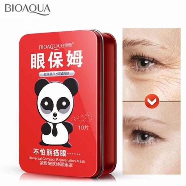BIOAQUA 10pcs Box Firming Lifting Mask Eye Mask Removal Dark Circle Anti Aging Whitening Moisturizing Nourishing